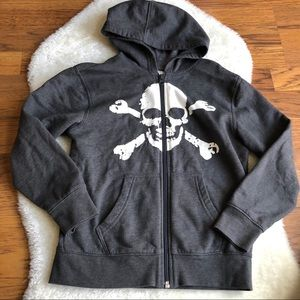 Boys zip up hoodie graphic print size small (6-7)